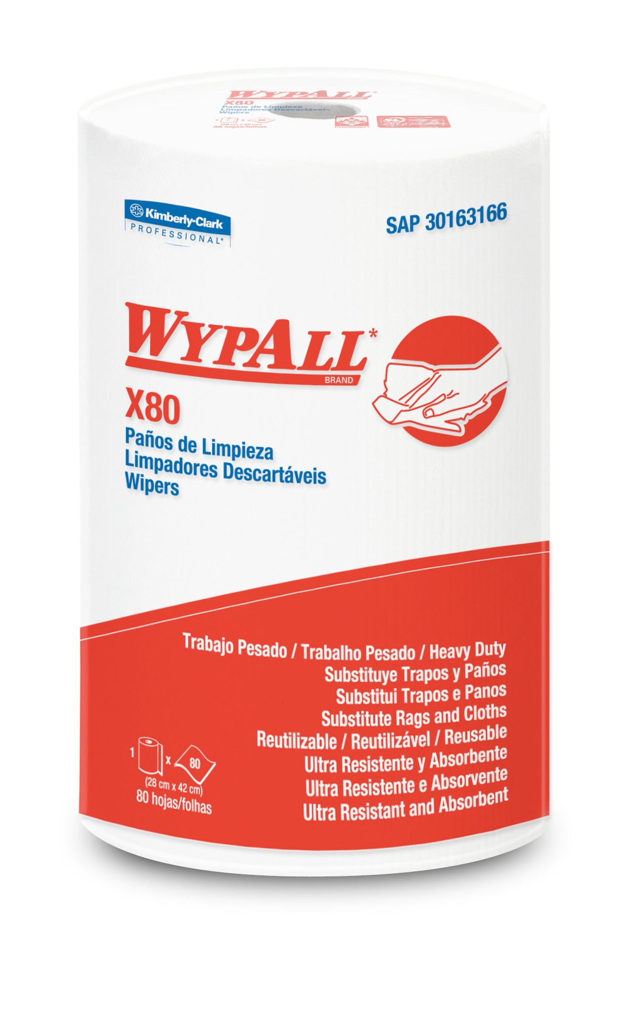 WYPALL* X-80 Regular Roll Precortado